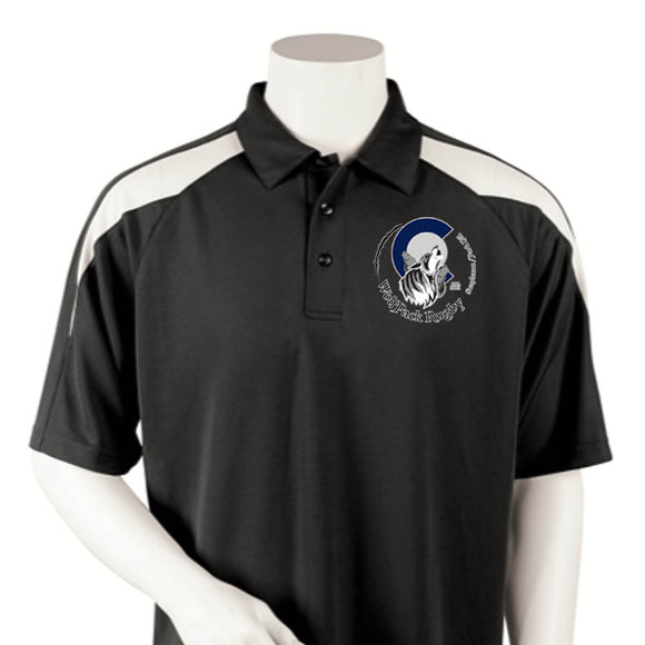 Park Hill Wolfpack Rugby Embroidered Polo with Mesh Insert #107PH - Olympus Rugby