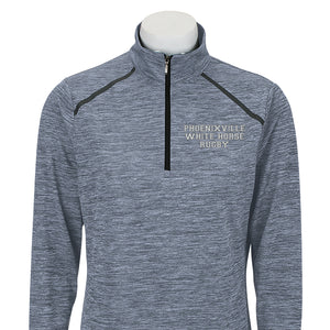 White Horse Rugby Embroidered Women's Sport 3/4 Zip Pull-Over #161WH - Olympus Rugby