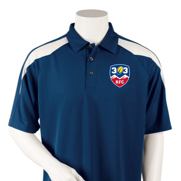 303 Rugby Embroidered Polo with Mesh Insert #107-303 - Olympus® Rugby