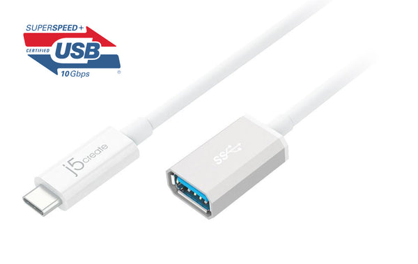 JUCX05 USB 3.1 Type-C to Type-A轉接線