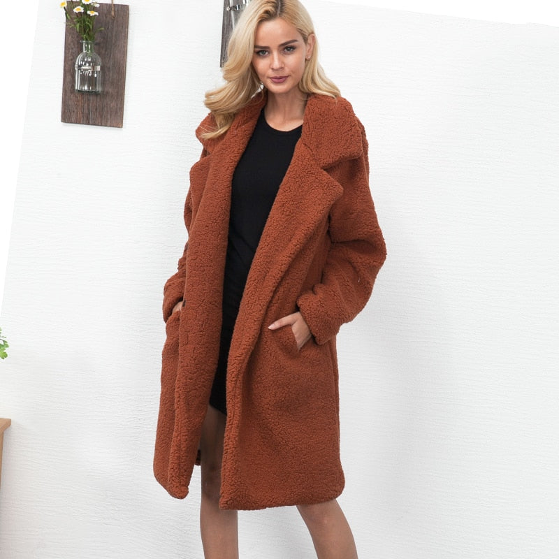 Lange Teddy Jas.Premium Long Teddy Coat Cozwool