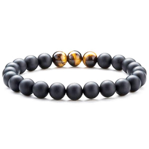 Contrast Tiger Eye Bead Bracelet