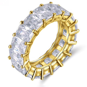 Crystal Clear Eternity Ring