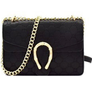 Embossed Horseshoe Handbag