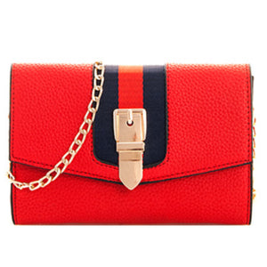 Multi Stripe Buckle Crossbody
