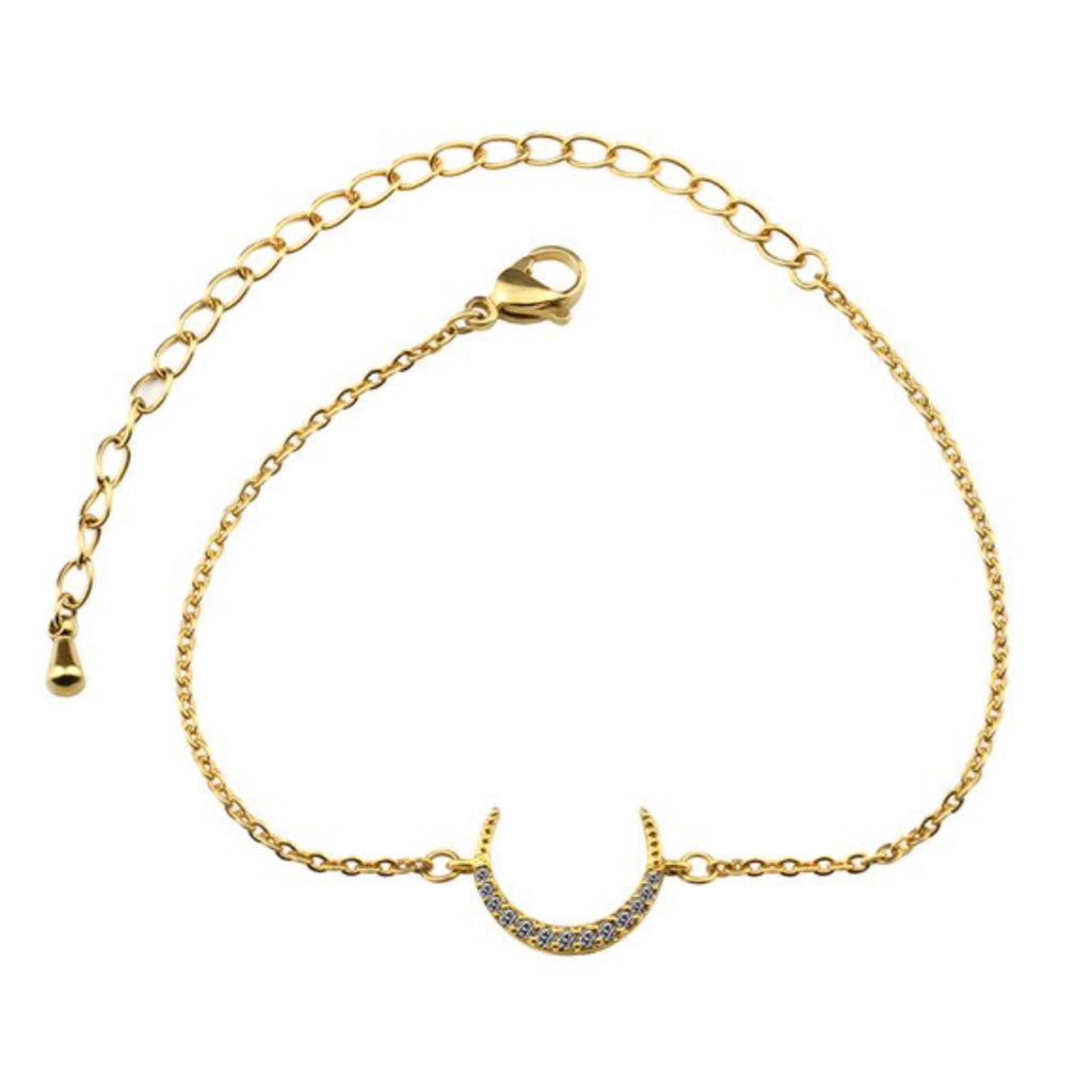 Stone Crescent Anklet