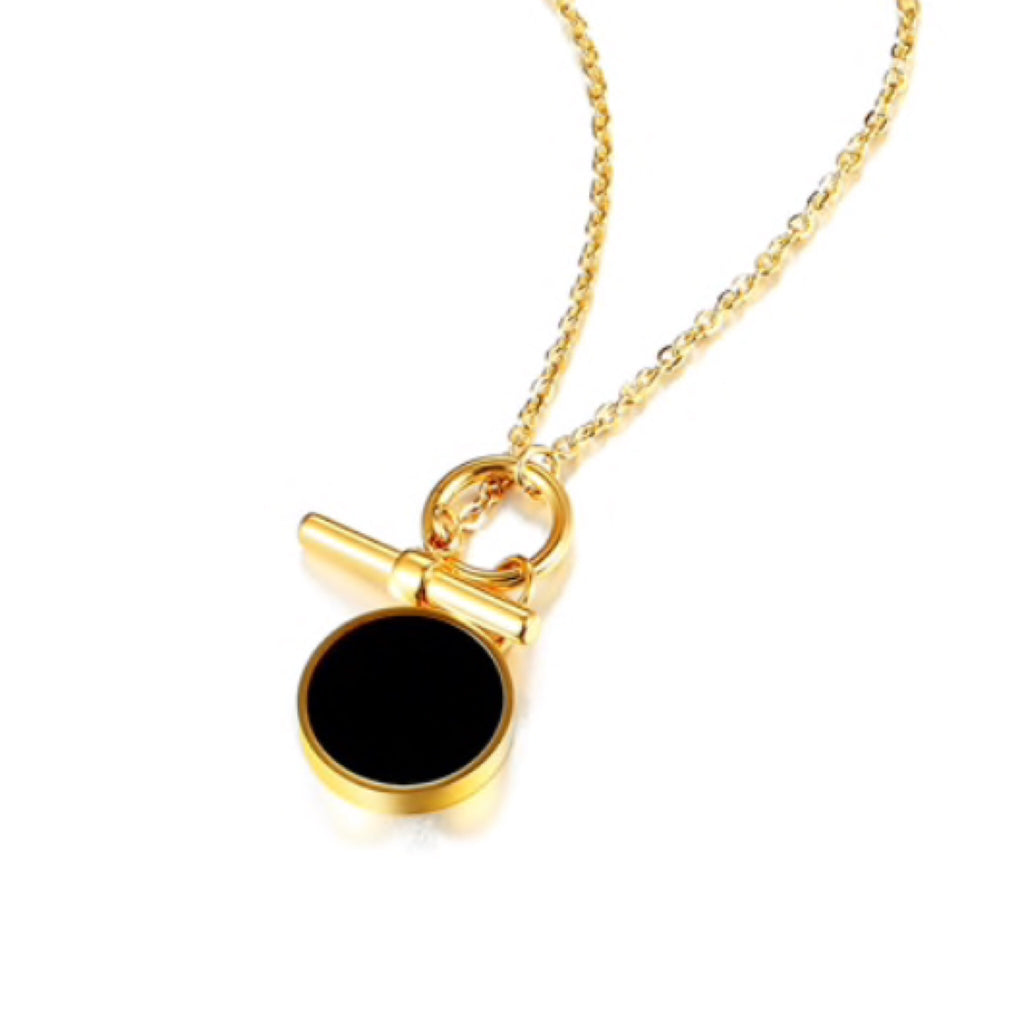 Black Dot Toggle Necklace