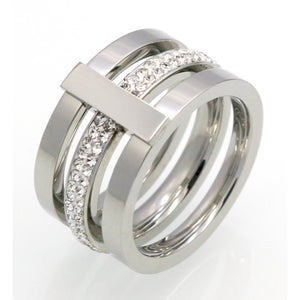 Tri Stack Bar Ring