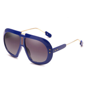 Striped Bridge Aviator Sunnies