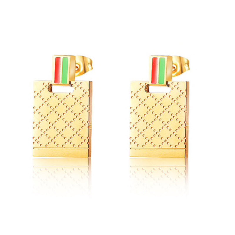 Striped Pattern Earrings