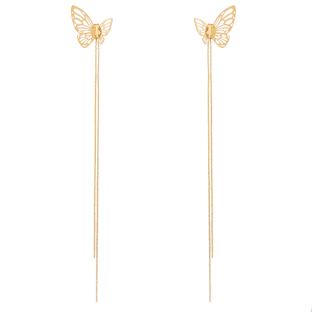 3D Butterfly Drop Earring
