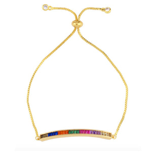 Rainbow Bar Adjustable Bracelet