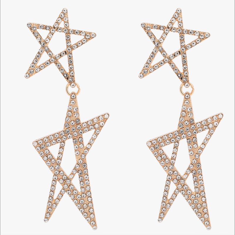 Star Studded Drop Earrings