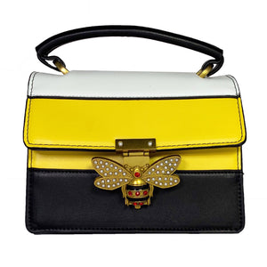 Striped Bee Handbag