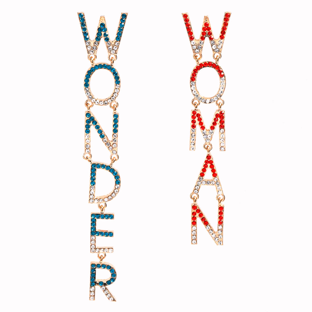 Wonder Woman Drop Earrings