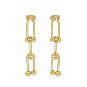 Beaded U Link Earring