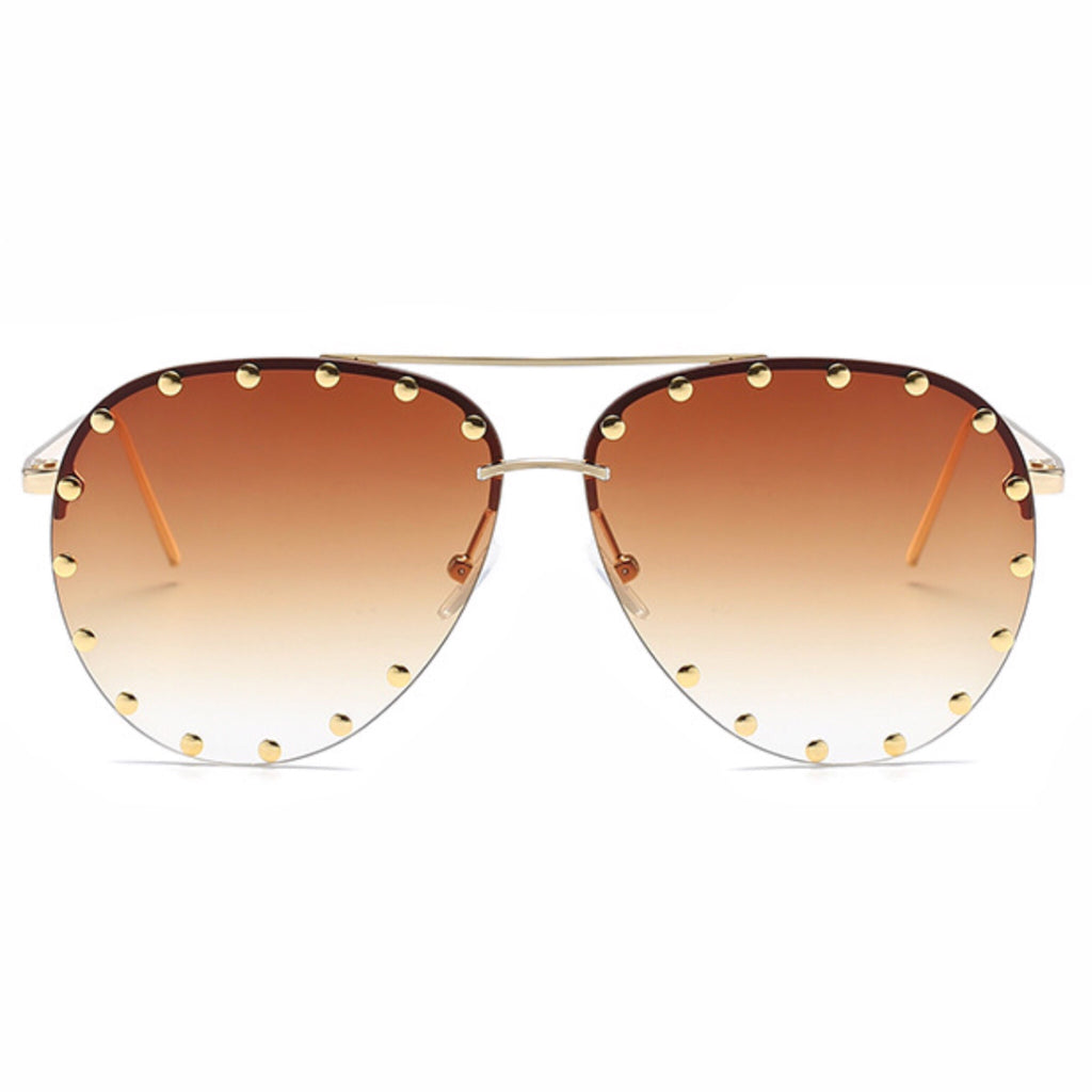 Studded Aviator Sunnies