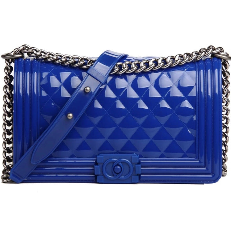 Patent Quilted Handbag