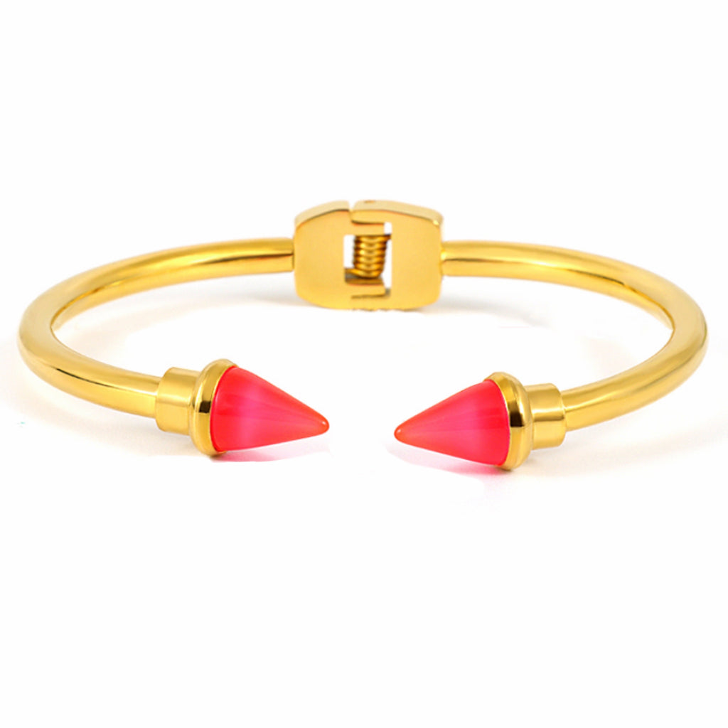 Color Coated Spike Bracelet