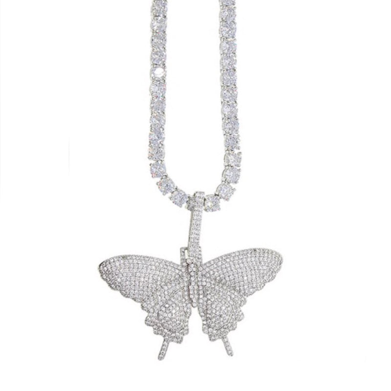 Tennis Chain with Butterfly Charm