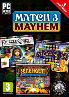 MATCH 3 MAYHEM - PUZZLE QUEST - ALEXANDRIA - SERENGETI