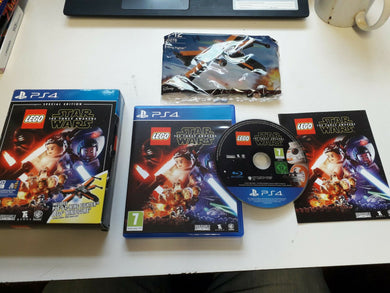 PLAYSTATION 4 Game * LEGO STAR WARS THE FORCE AWAKENS with POE'S X-WING * PS4