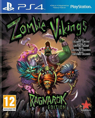 * Playstation 4 NEW SEALED Game * ZOMBIE VIKINGS - RAGNAROK Edition * PS4