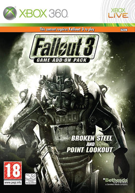 FALLOUT 3 Game Add-On Pack Broken Steel & Point Lookout