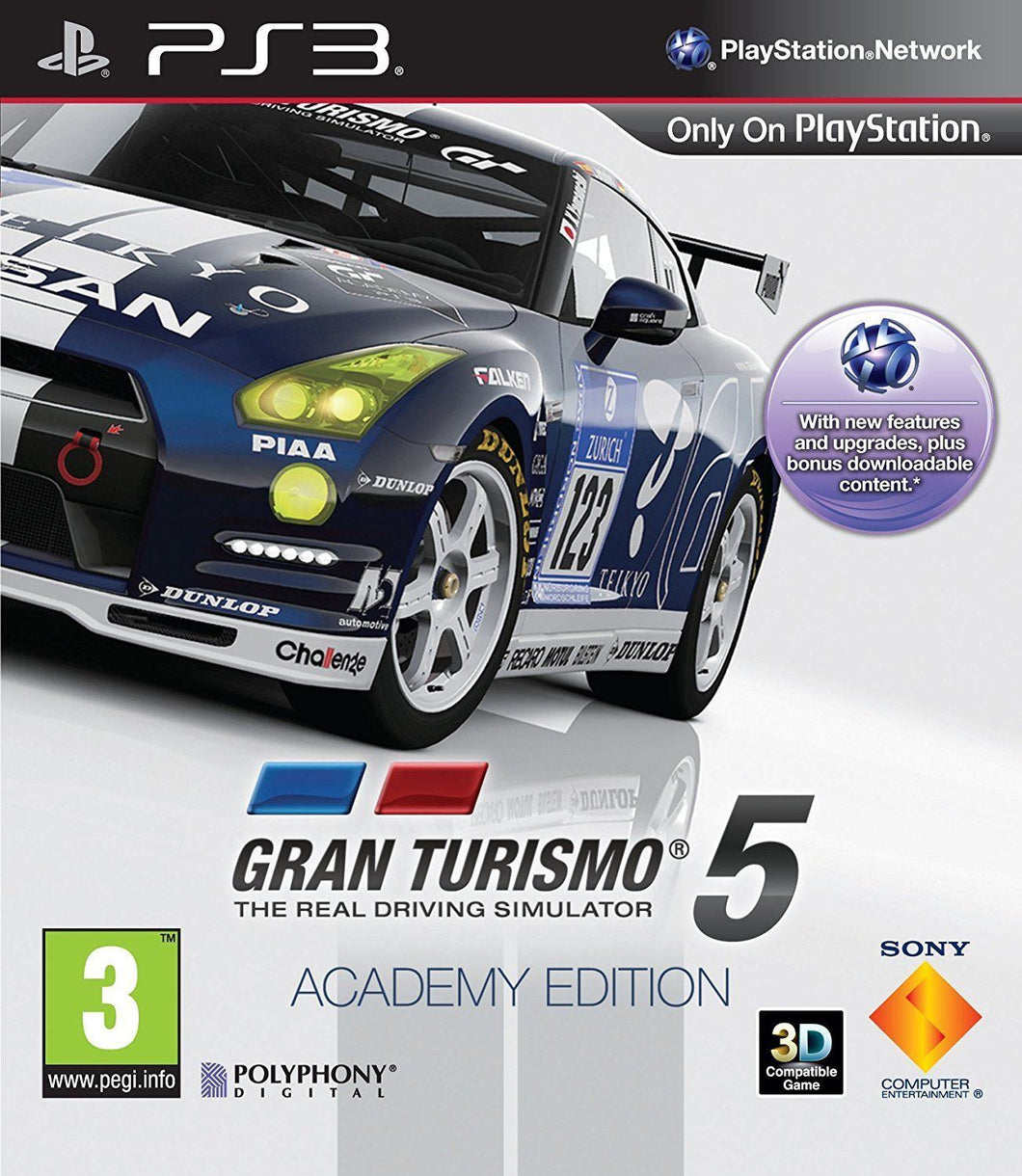 GRAN TURISMO 5 ACADEMY EDITION - SEAL WEAR