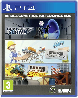 * Playstation 4 NEW SEALED Game * BRIDGE CONSTRUCTOR COMPILATION inc PORTAL PS4