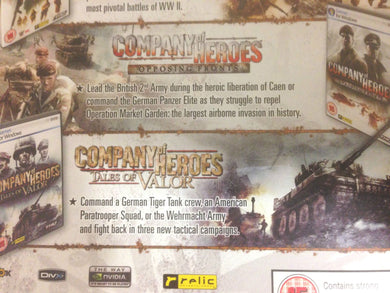 PC NEW Game COMPANY OF HEROES Opposing Fronts & Tales of Valor EXPANSION PACKS