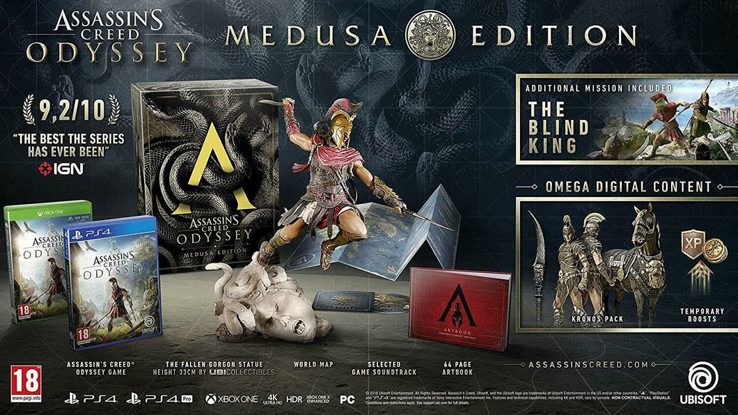 XBOX ONE NEW SEALED Game * ASSASSIN'S CREED ODYSSEY MEDUSA COLLECTOR'S EDITION