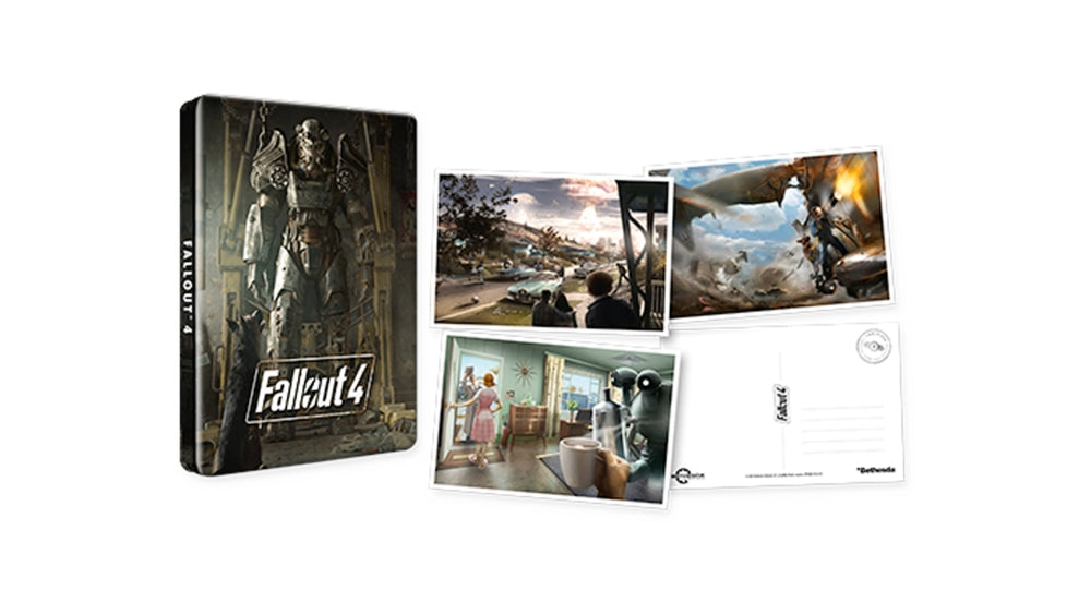 FALLOUT 4 STEELBOOK + POSTCARDS - NO GAME
