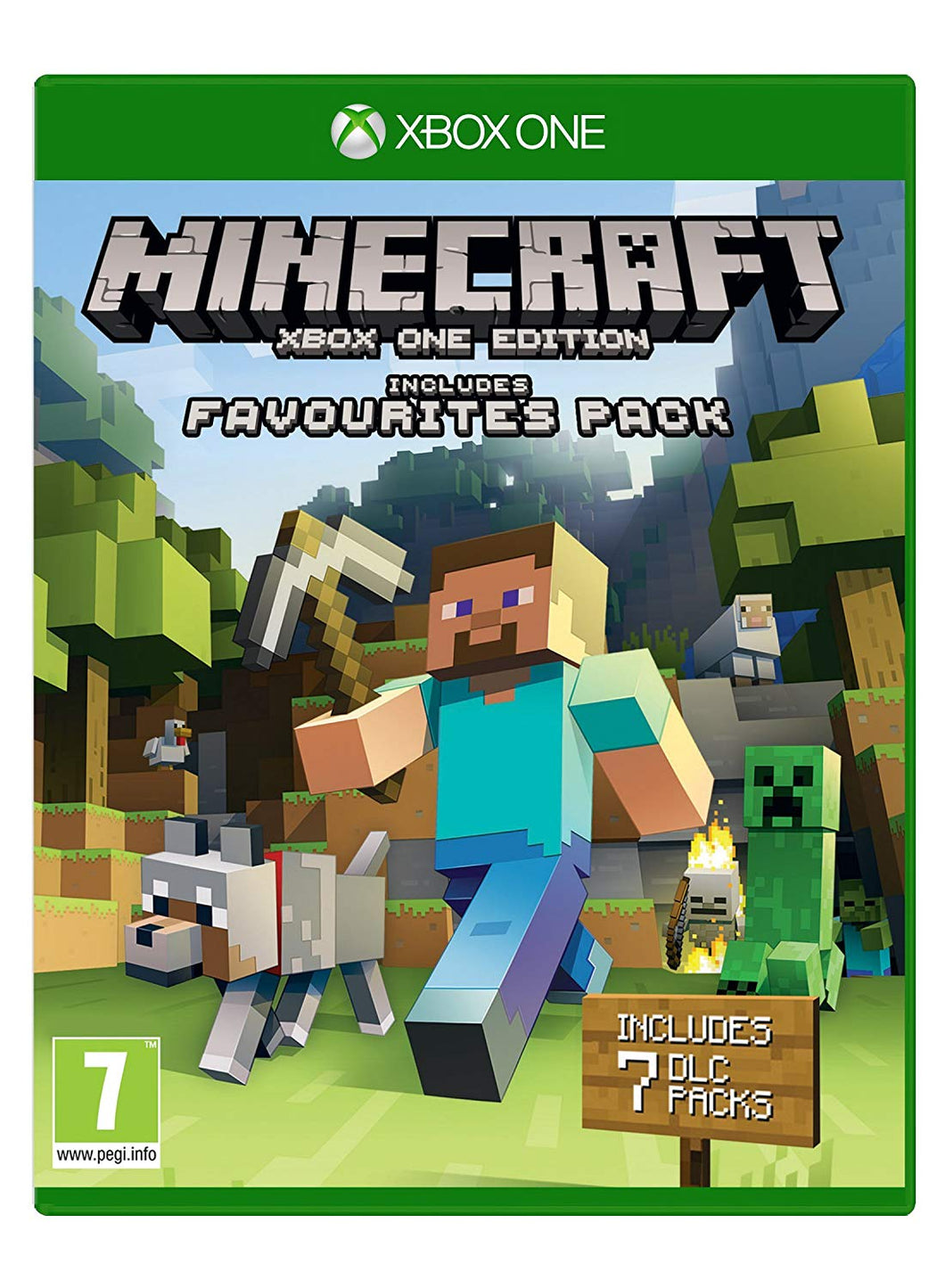 MINECRAFT - XBOX ONE EDITION Includes FAVOURITES PACK