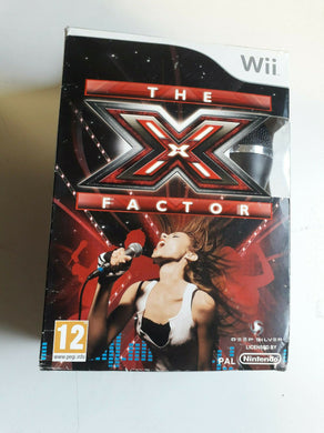 NINTENDO Wii NEW SEALED Game * THE X FACTOR with MICROPHONE  * BOX DAMAGE