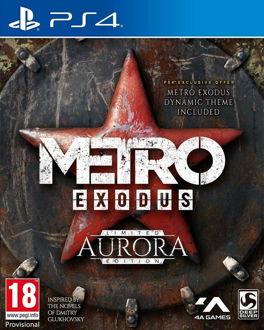 PLAYSTATION 4 NEW SEALED Game * METRO EXODUS - AURORA LIMITED EDITION * PS4