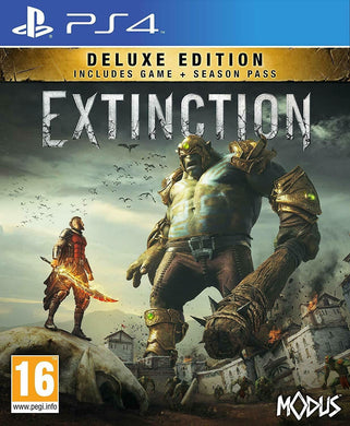 * Playstation 4 NEW SEALED Game * EXTINCTION DELUXE EDITION inc SEASON PASS PS4