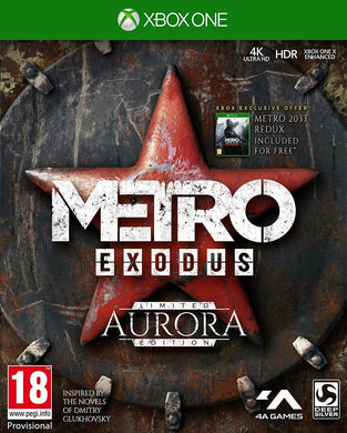 XBOX ONE NEW SEALED Game * METRO EXODUS - AURORA LIMITED EDITION inc METRO 2033