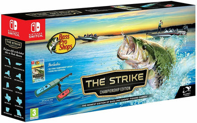 * Nintendo Switch New Game * THE STRIKE CHAMPIONSHIP EDITION with Fishing Rod *