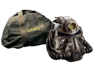 FALLOUT 76 Wearable T-51B POWER ARMOR HELMET Voice Changer & Light + Duffle BAG NEW