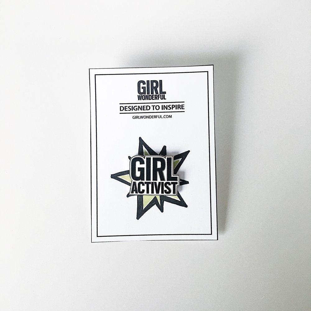 Girl Activist, gift, enamel pin, Girl Power, Woman Power