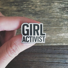 Load image into Gallery viewer, Girl Activist pin, gift, enamel pin, Girl Power, Woman Power