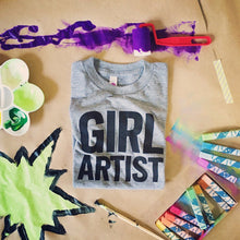 Load image into Gallery viewer, Girl Artist tri-blend tee, youth and adult sizes, #S.T.E.A.M. #GirlStrong #girlpower