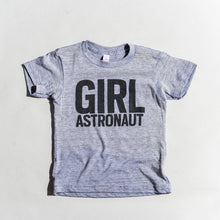 Load image into Gallery viewer, Girl Astronaut tri-blend tee, youth and adult sizes, #GirlStrong #girlpower #stem #girlwonderful