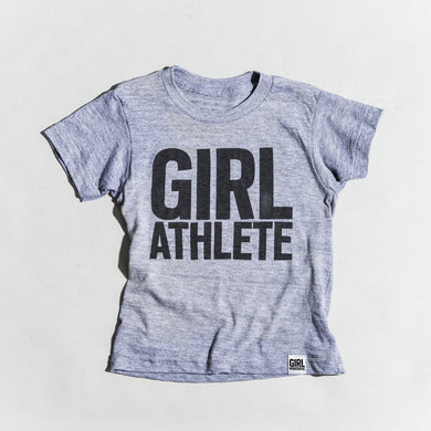 Girl Athlete tri-blend tee, youth and adult sizes, #GirlStrong #girlpower