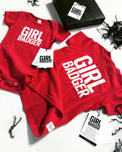 GIRL BADGER ONESIE & T-SHIRT