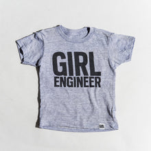 Load image into Gallery viewer, Girl Engineer tri-blend tee, youth and adult sizes, #GirlStrong #girlpower #stem #girlengineer #girlwonderful