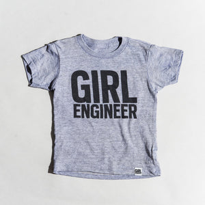 Girl Engineer tri-blend tee, youth and adult sizes, #GirlStrong #girlpower #stem #girlengineer #girlwonderful