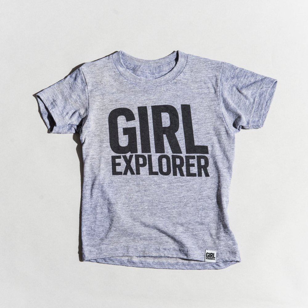 Girl Explorer tri-blend tee, youth and adult sizes, #GirlStrong #girlpower  #girlexplorer #girlwonderful