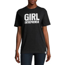 Load image into Gallery viewer, Girl Entrepreneur in black, adult and youth sizes, a collaboration with Bobbi Brown, #entrepreneur, #girlentrepreneur, #girlwonderful